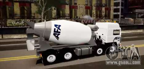 Volvo F10 cement truck for GTA 4 left view