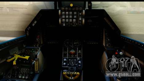 F-16C USAF 111th FS 90th Anniversary for GTA San Andreas inner view