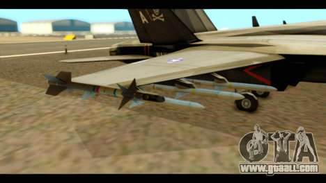 FA-18 Jolly Roger Black for GTA San Andreas right view