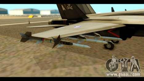 FA-18 Jolly Roger Black for GTA San Andreas right view