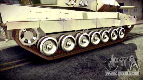 Leopard 2A6 for GTA San Andreas back left view