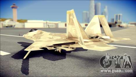 F-22 Raptor Desert Camo for GTA San Andreas left view