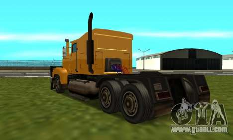 PS2 RoadTrain for GTA San Andreas left view