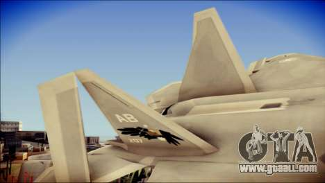 F-22 Gryphus, Falco and Antares for GTA San Andreas back left view