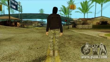 Sicario Skin v10 for GTA San Andreas second screenshot