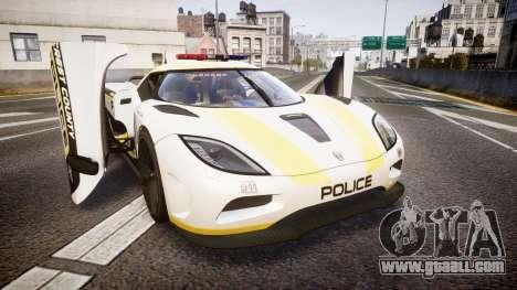 Koenigsegg Agera 2013 Police [EPM] v1.1 Low Qual for GTA 4