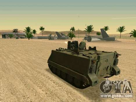The M113 Armored Personnel Carrier for GTA San Andreas right view