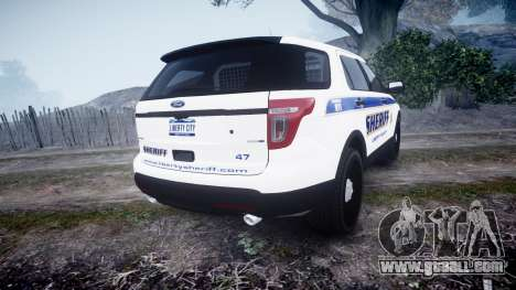 Ford Explorer Police Interceptor [ELS] slicktop for GTA 4 back left view
