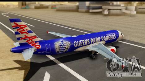 Airbus A320-200 AirAsia Queens Park Rangers for GTA San Andreas left view