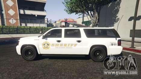 GTA 5 Declasse Sheriff SUV white left side view
