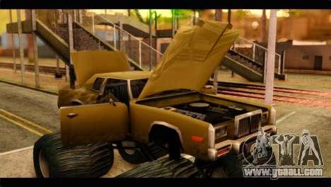 Monster Esperanto for GTA San Andreas back view