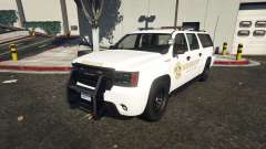 Declasse Sheriff SUV white for GTA 5
