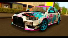 Mitsubishi Lancer Evolution X 2008 Miku Racing for GTA San Andreas