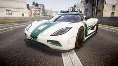 Koenigsegg Agera 2013 Police [EPM] v1.1 PJ4 for GTA 4