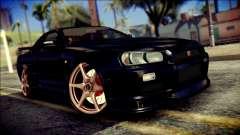 Nissan Skyline GTR V Spec II v2 for GTA San Andreas