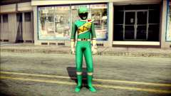 Power Rangers Kyoryu Green Skin for GTA San Andreas