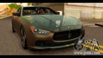 Maserati Ghibli S 2014 v1.0 SA Plate for GTA San Andreas