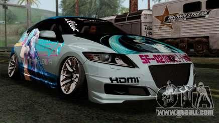 Honda CRZ Mugen Stance Miku Itasha for GTA San Andreas