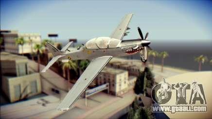 EMB 314 Super Tucano Colombian Air Force for GTA San Andreas