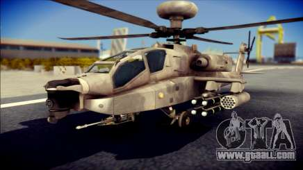 AH64 Apache MOHW for GTA San Andreas