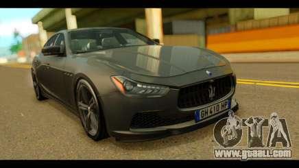 Maserati Ghibli S 2014 v1.0 EU Plate for GTA San Andreas