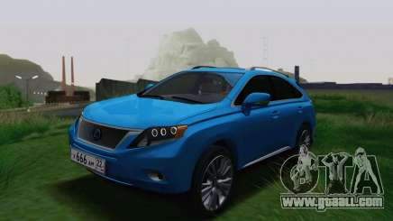 Lexus RX450h v3 for GTA San Andreas