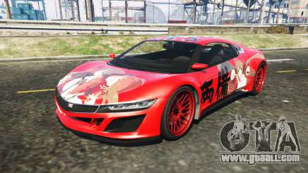 Dinka Jester (Racecar) Senran Kagura Ryobi Itasy for GTA 5
