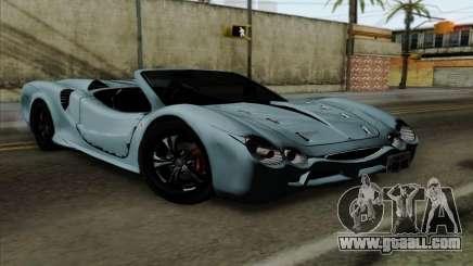 Mitsuoka Orochi Nude Top Roadster for GTA San Andreas
