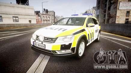 Volkswagen Passat B7 Police 2015 [ELS] marked for GTA 4