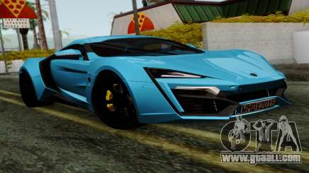 Lykan Hypersport 2014 EU Plate Livery Pack 1 for GTA San Andreas