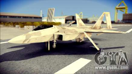 F-22 Raptor Desert Camo for GTA San Andreas