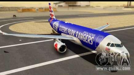 Airbus A320-200 AirAsia Queens Park Rangers for GTA San Andreas