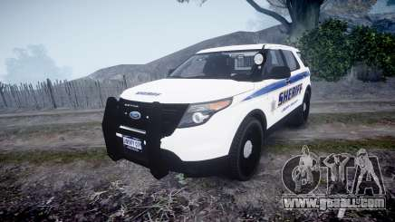 Ford Explorer Police Interceptor [ELS] slicktop for GTA 4
