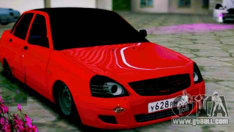 Lada 2170 Priora Spartak Moscow for GTA San Andreas left view