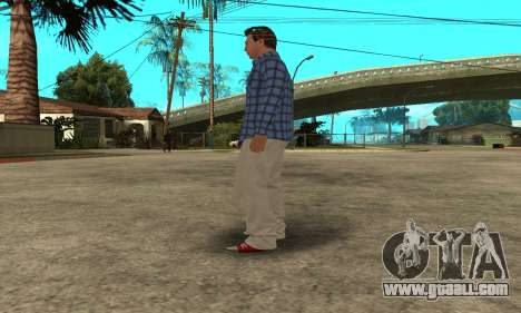 Skin Claude [HD] for GTA San Andreas eighth screenshot