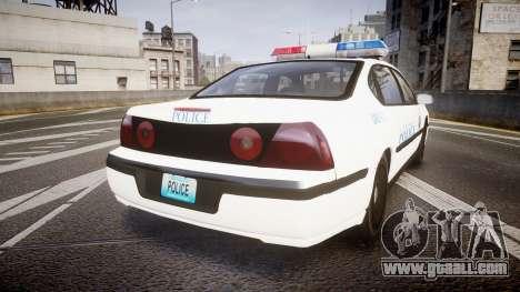 Chevrolet Impala Metropolitan Police [ELS] Pat for GTA 4 back left view