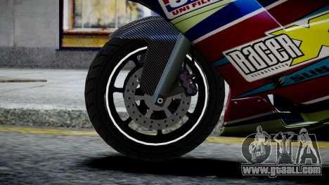 Bike Bati 2 HD Skin 2 for GTA 4 back left view