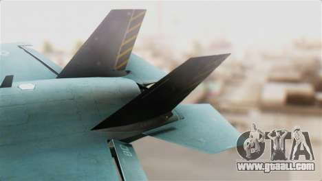 F-35B Lightning II for GTA San Andreas back left view
