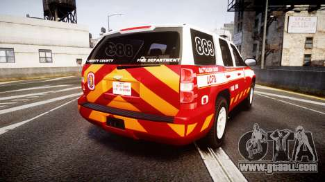 Chevrolet Tahoe 2013 Battalion Chief Unit [ELS] for GTA 4 back left view