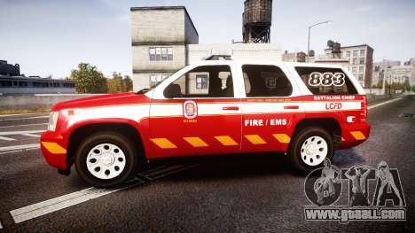 Chevrolet Tahoe 2013 Battalion Chief Unit [ELS] for GTA 4 left view