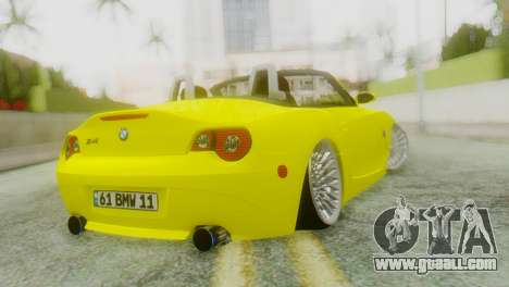 BMW Z4 Construction Ens for GTA San Andreas left view