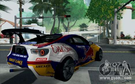 Toyota GT86 Red Bull for GTA San Andreas left view