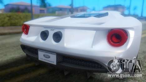 Ford GT 2017 for GTA San Andreas back view