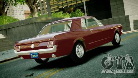 Ford Mustang 1965 for GTA 4 left view