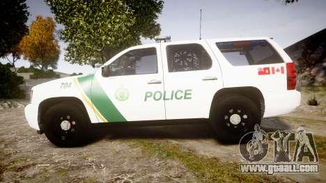 Chevrolet Tahoe Niagara Falls Parks Police [ELS] for GTA 4 left view