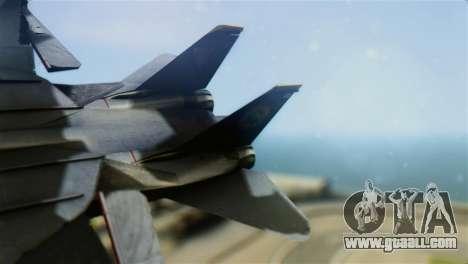 F-14D Super Tomcat Halloween Pumpkin for GTA San Andreas back left view