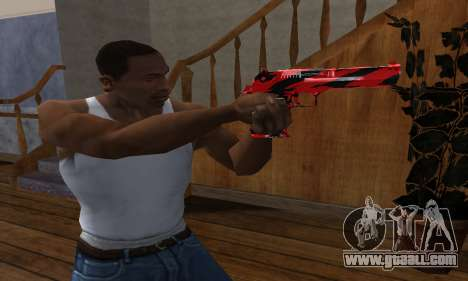 Black Lines Deagle for GTA San Andreas second screenshot