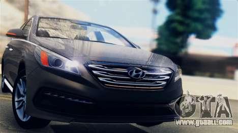 Hyundai Sonata 2015 for GTA San Andreas back left view