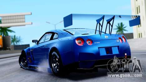 Nissan GT-R (R35) GT3 2012 PJ2 for GTA San Andreas left view