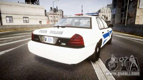 Ford Crown Victoria Indiana State Police [ELS] for GTA 4 back left view